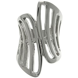 CGC Stainless Steel Geometric Triangle Modern Wrap Ring