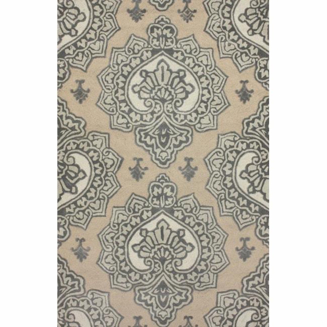 nuLOOM Handmade Indoor / Outdoor Damask Beige Rug (5' x 8') at Sears.com
