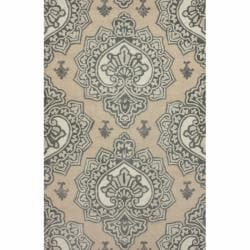 nuLOOM Handmade Indoor / Outdoor Damask Beige Rug (5' x 8')