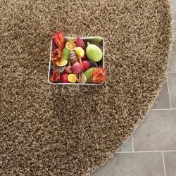 Safavieh Handmade Posh light Brown Shag Rug (7' Round)