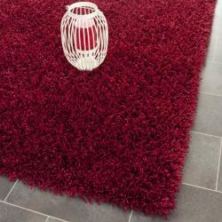 Safavieh Handmade Posh Red Shag Rug (6' x 9')