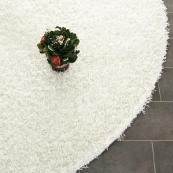 Safavieh Handmade Posh White Shag Rug (7' Round)