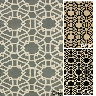 nuLOOM Handmade Art Deco Trellis Wool Rug (5' x 8')