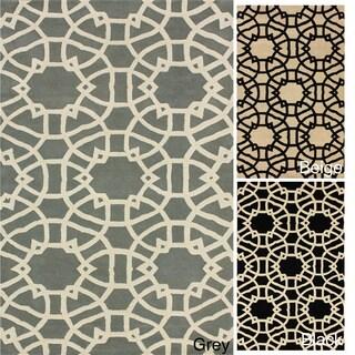 nuLOOM Handmade Art Deco Trellis Wool Rug (7'6 x 9'6)