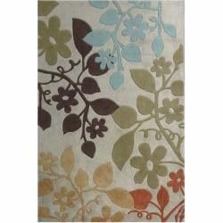 nuLOOM Handmade Pino Bold Floral Rug (7'6 x 9'6)