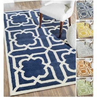 nuLOOM Handmade Moroccan Trellis Slate Wool Rug (7'6 x 9'6)