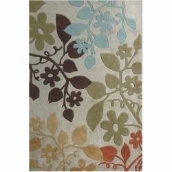 nuLOOM Handmade Pino Bold Floral Rug (5' x 8')