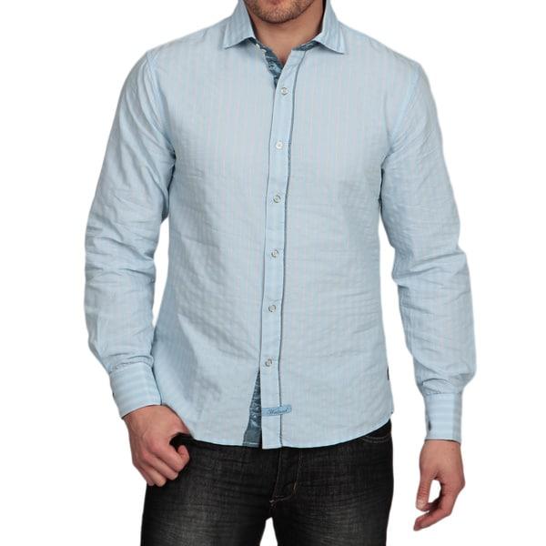 Scott Weiland Men's Striped Woven Shirt