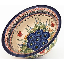 Stoneware Flared-Top Serving Bowl Pottery (Poland)