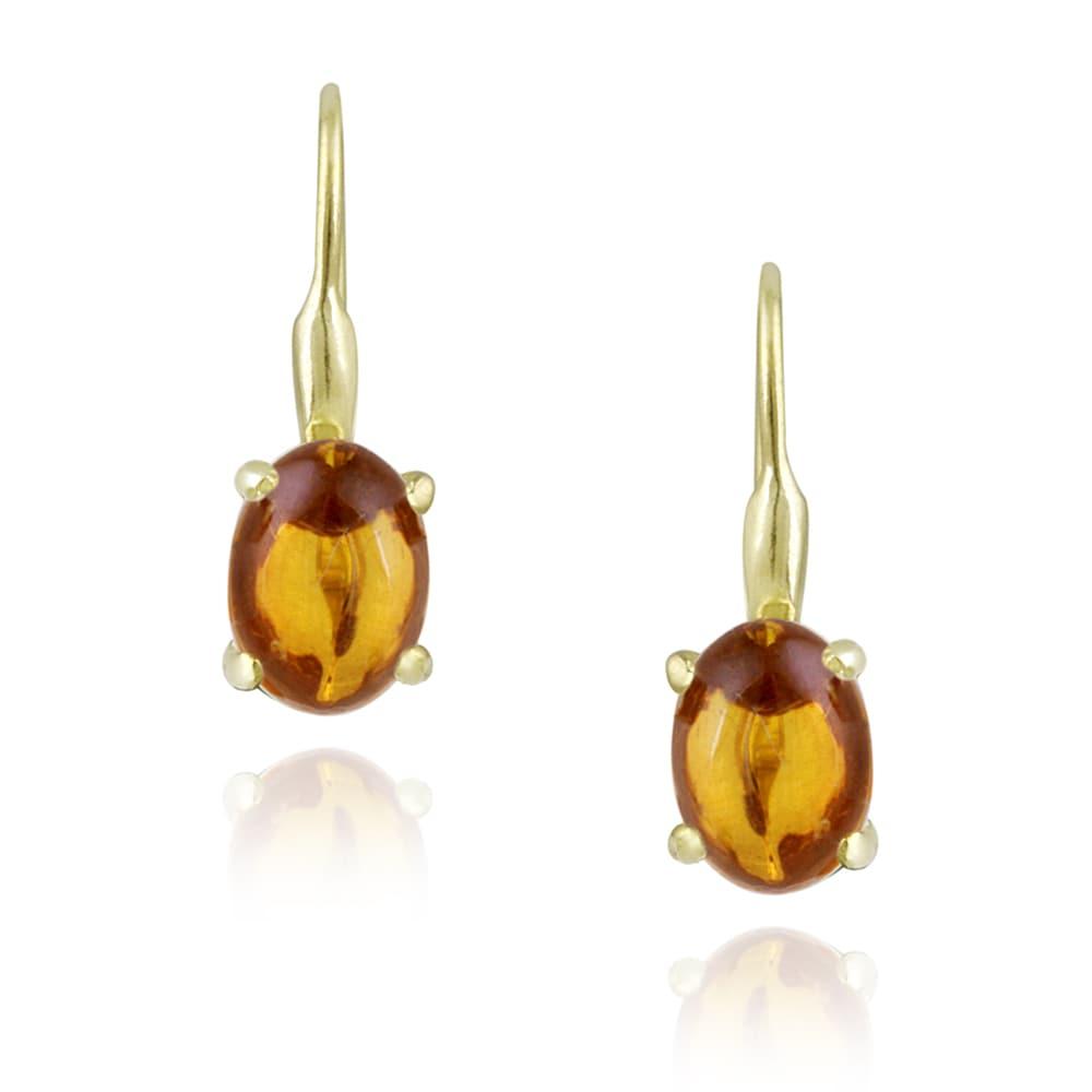 Glitzy Rocks 18k Gold over Silver Aragonite Earrings (2 1/5ct TGW)