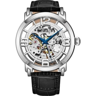 Stuhrling Original Men\u0026#39;s Winchester 44 Skeleton Automatic Leather ...