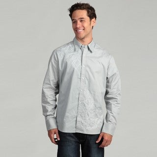 Cultura Men's Grey Stitch Woven Shirt