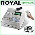 Royal alpha9500ml Electronic Cash Register Bundle with USB Barcode Scanner