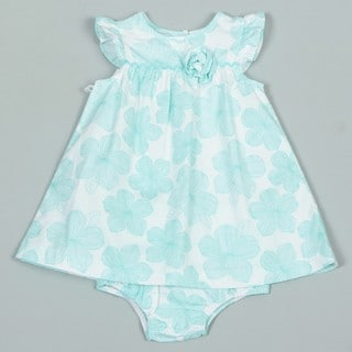 Little Me Infant Girl's Mint Green Woven Dress FINAL SALE