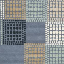 Safavieh Handmade Chatham Squares Grey New Zealand Wool Rug (4' x 6')
