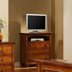 Napa Chestnut 3-drawer Media Chest