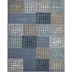 Safavieh Handmade Chatham Squares Grey New Zealand Wool Rug (8' x 10')