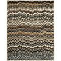 Handmade Chatham Zig-Zag Brown New Zealand Wool Rug (8' x 10')