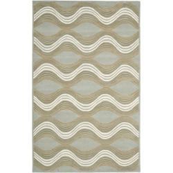 Safavieh Handmade Chatham Waves Blue New Zealand Wool Rug (4' x 6')