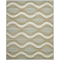 Safavieh Handmade Chatham Waves Blue New Zealand Wool Rug (8' x 10')