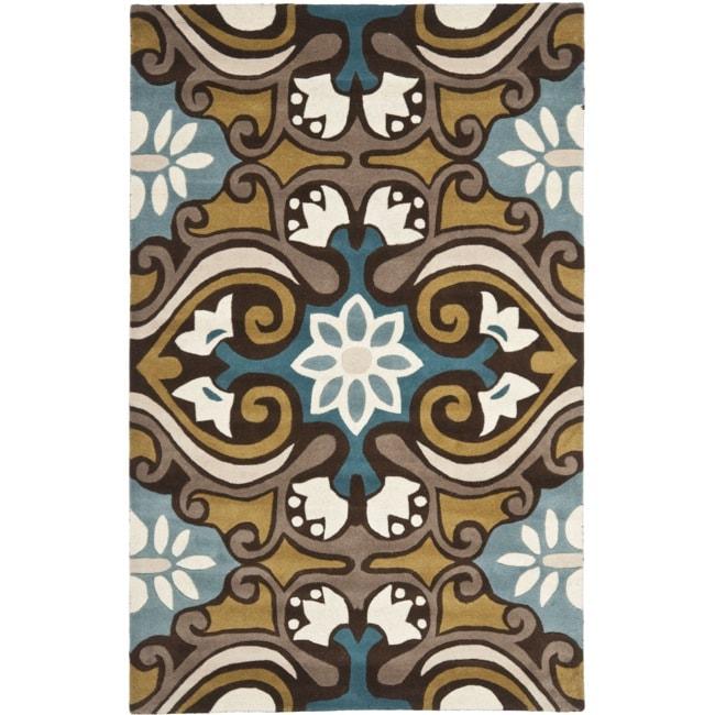 Safavieh Handmade Chatham Enchant Blue New Zealand Wool Rug (5' x 8')