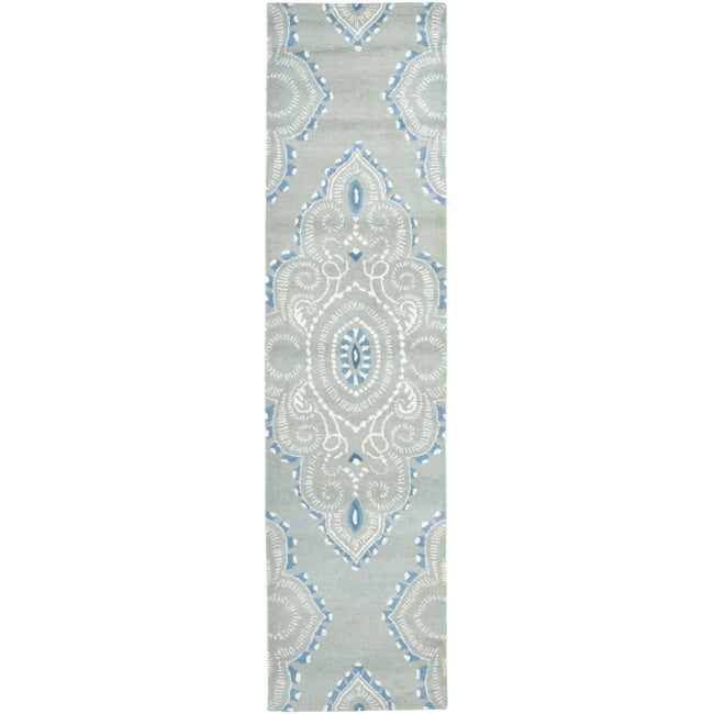 Safavieh Handmade Chatham Mystic Blue New Zealand Wool Rug (2'3 x 9')