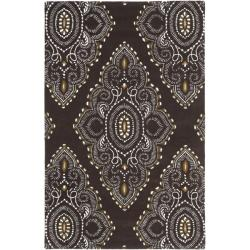 Handmade Chatham Mystic Brown New Zealand Wool Rug (4' x 6')