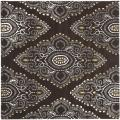 Handmade Chatham Mystic Brown New Zealand Wool Rug (7' Square)
