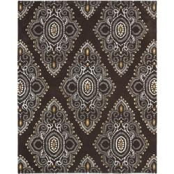 Safavieh Handmade Chatham Mystic Brown New Zealand Wool Rug (8' x 10')