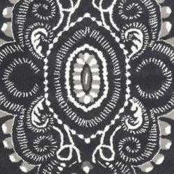 Handmade Chatham Mystic Dark Grey New Zealand Wool Rug (8' x 10')