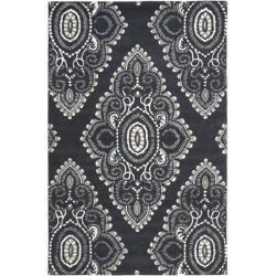 Safavieh Handmade Chatham Mystic Dark Grey New Zealand Wool Rug (8' x 10')
