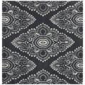 Handmade Chatham Mystic Dark Grey New Zealand Wool Rug (7' Square)