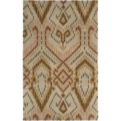 Handmade Chatham Journey Brown New Zealand Wool Rug (4' x 6')