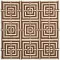 Handmade Chatham Basketweave Brown New Zealand Wool Rug (7' Square)