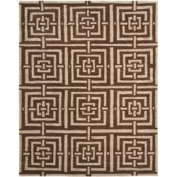 Safavieh Handmade Chatham Basketweave Brown New Zealand Wool Rug (8' x 10')