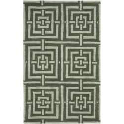 Safavieh Handmade Chatham Basketweave Sage New Zealand Wool Rug (4' x 6')