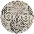Handmade Chatham Treasures Ivory New Zealand Wool Rug (7' Round)