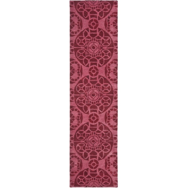 Safavieh Handmade Chatham Treasures Red New Zealand Wool Rug (2'3 x 9')