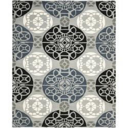 Safavieh Handmade Chatham Treasures Grey New Zealand Wool Rug (8' x 10')