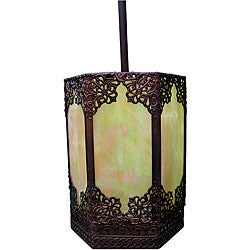 Warehouse of Tiffany Satin Bronze Pendant Light