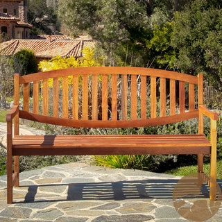 Christopher Knight Home Lucas Deluxe Eucalyptus Wood Outdoor Bench