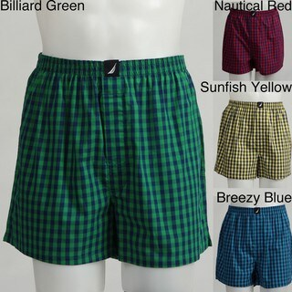 Nautica Men's Plaid Woven Boxer Shorts