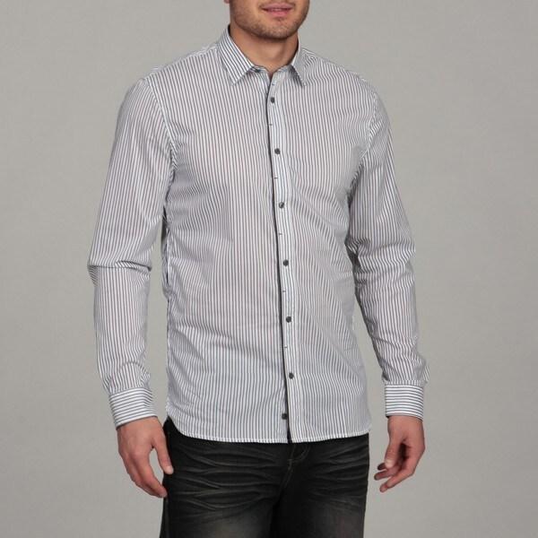 Buffalo by David Bitton Men's White/Harbor Combo Woven Shirt