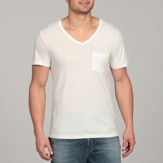 Buffalo by David Bitton Men's White V-neck Tee