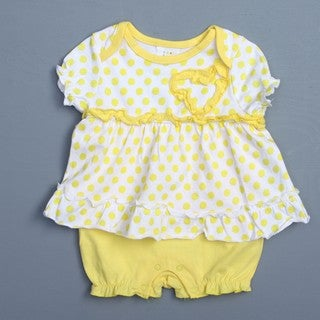 Absorba Newborn Girl's Ruffle Creeper Set FINAL SALE