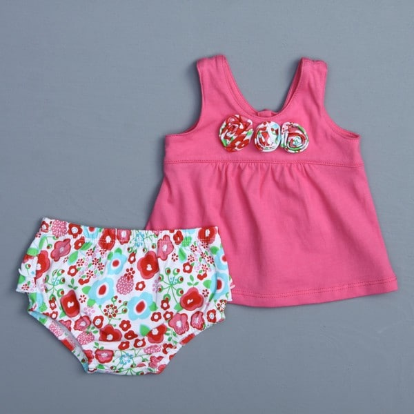 Absorba Newborn Girl's Floral Two-piece Set
