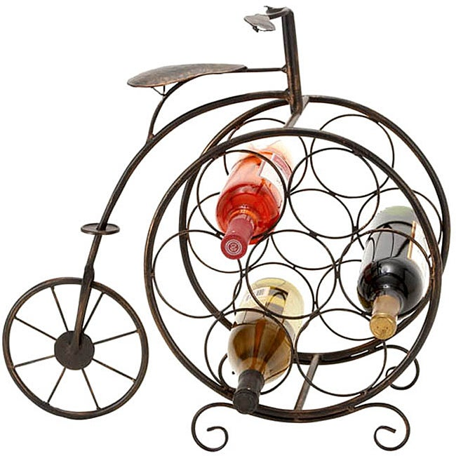 Casa Cortes 7-bottle Artisan Tricycle Wine Rack