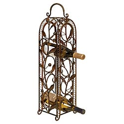 Casa Cortes 5-bottle Metal Wine Holder Rack Barware