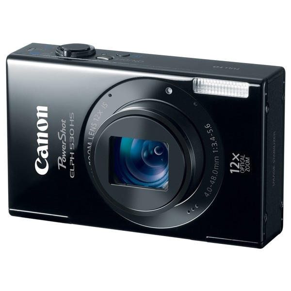 Canon PowerShot ELPH 530 HS 10MP Black Digital Camera