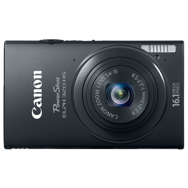Canon PowerShot ELPH 320HS 16.1MP Black Digital Camera
